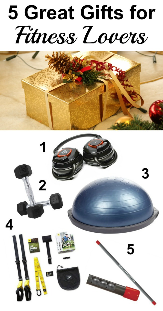 Whether you have a few more gifts to buy, or want some ideas for your own wish list, here are 5 great gifts for Fitness Lovers. #fitness #giftguide #exercise