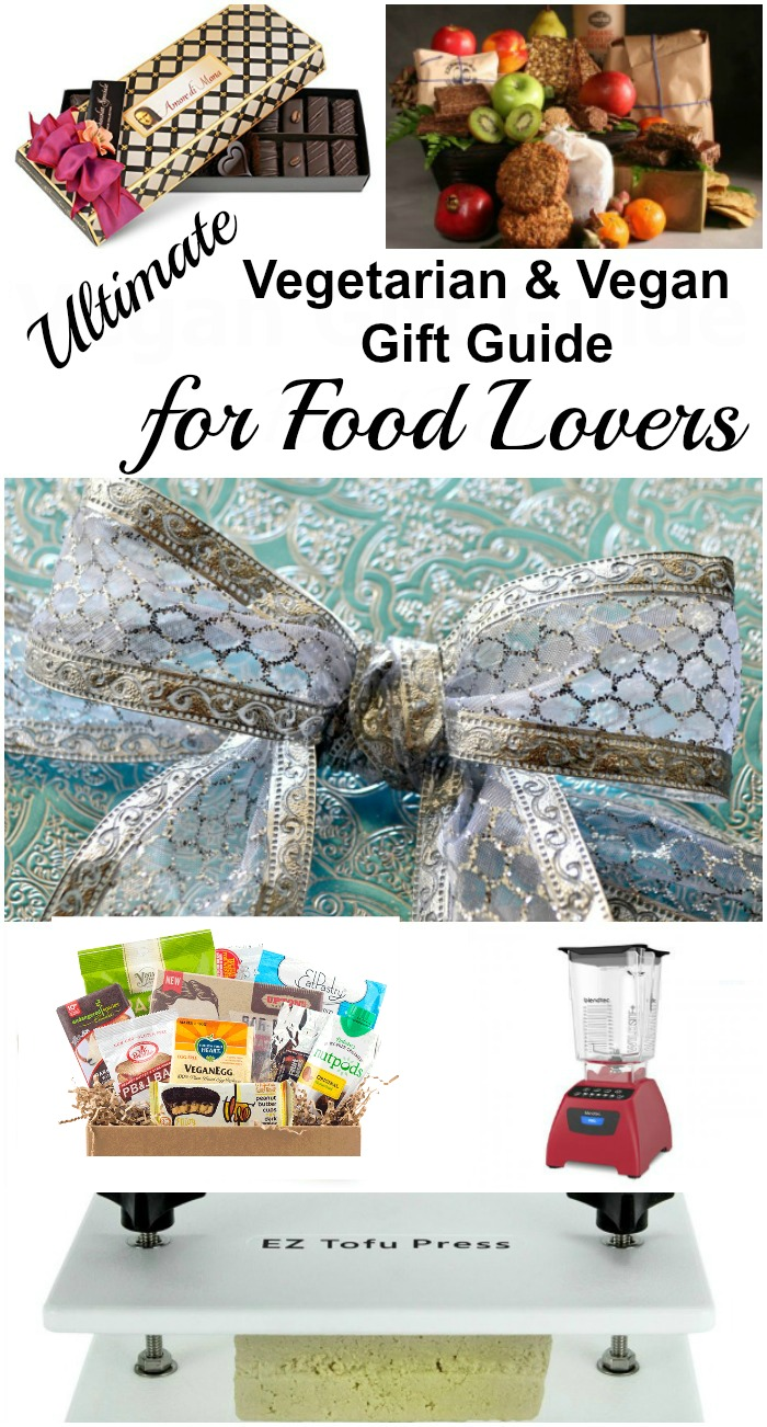 Here's a vegetarian and vegan gift guide that will help you find the perfect gift for your budget for the vegetarian or vegan on your gift list. #vegan #vegetarian #giftguide #vegangiftguide