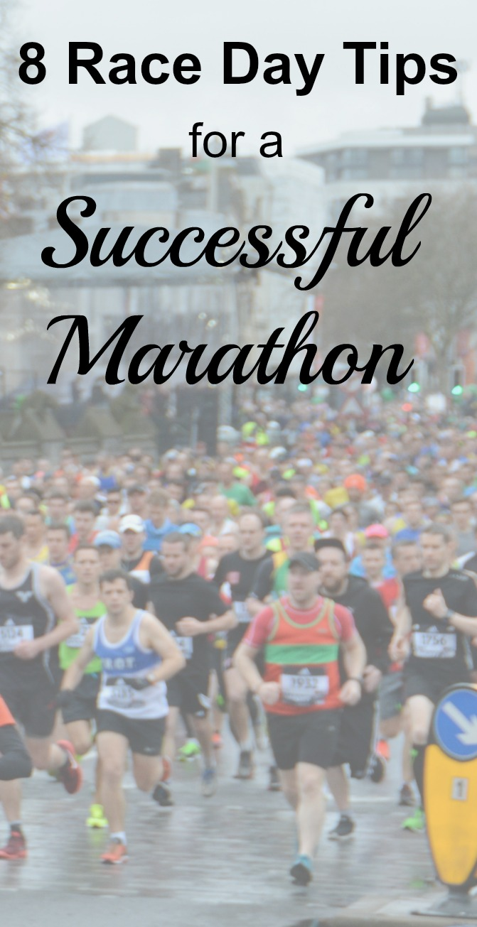 A lot of training goes into running a marathon. These race day tips will make sure that you have a successful marathon. #running #marathon #runningtips
